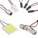 48 LED COB Chip Car Panel Festoon Lamp Interior Room Dome Light 12V #~