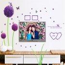 3D Removable Decals Romantic Purple Dandelion Wall Sticker DIY Home Art Decor H5