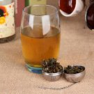 Silver Stainless Steel Teakettles Strainer Tea Locking Spice Egg Shaped Ball HS
