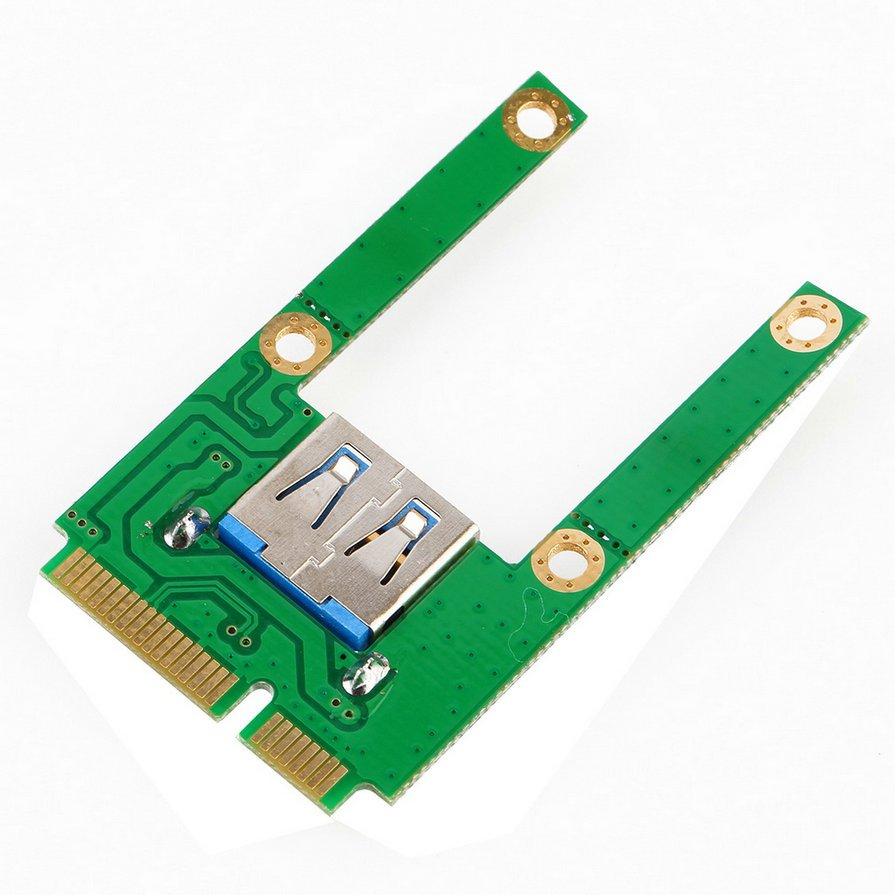 Mini PCI-E Card Slot Expansion to USB 2.0 Interface Adapter Riser Card #E