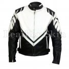 Black Motorcycle Biker Racing Genuine Leather Jacket