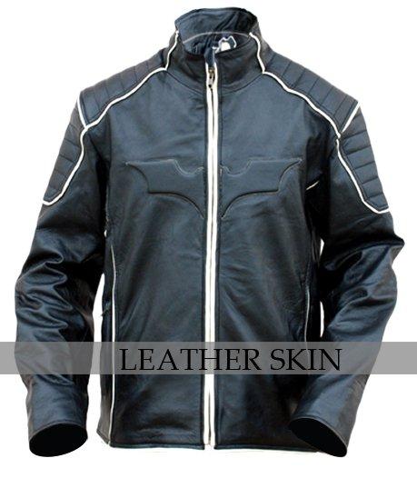 Black Bat Style Leather Jacket Costume w/ Padded Shoulder