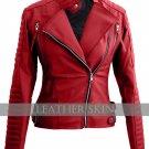 Red Brando Women Ladies Faux Leather Jacket