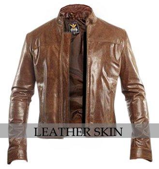 Unisex Dark Brown Genuine Leather Jacket