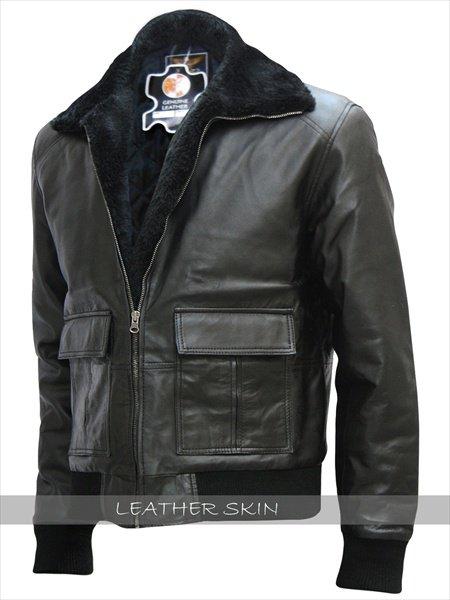 Brad Pitt Film Festival Black Bomber Leather Jacket