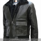 Brad Pitt Film Festival Black Bomber Leather Jacket