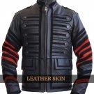 Black Military Men Fashion Genuine Leather Jacket