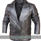 Black Brando Style Men Leather Jacket