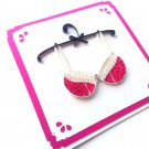 Quilled card/ Bra greeting card/Birthday card, Funny card,bachelorette, wedding, Quilling card
