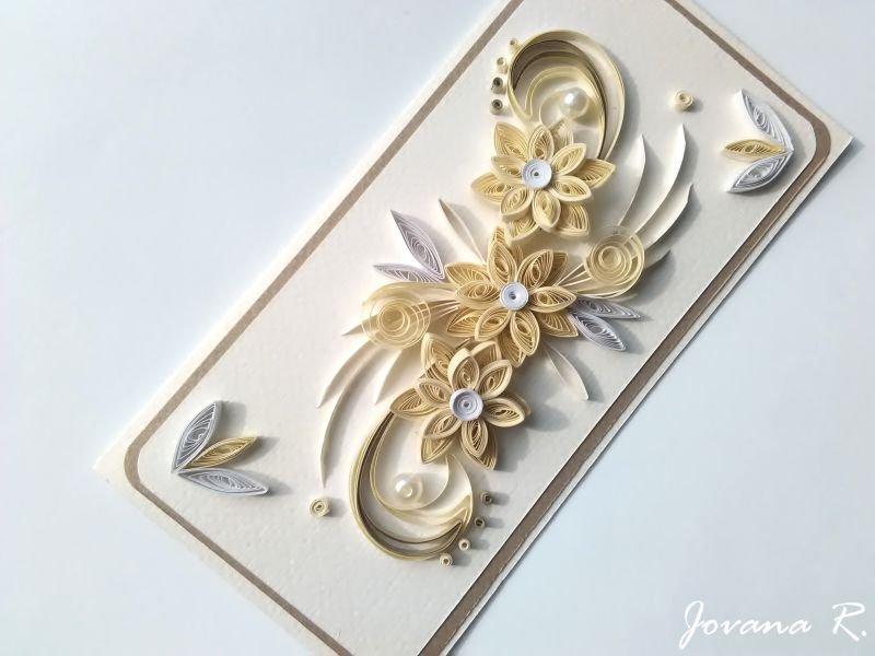 Handmade card/ quilling card/ birthday card/ wedding card