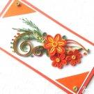 Handmade card/ quilling card/ birthday card/ wedding card/orange card