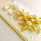 Handmade card/ quilling card/ birthday card/ wedding card/ yellow card/