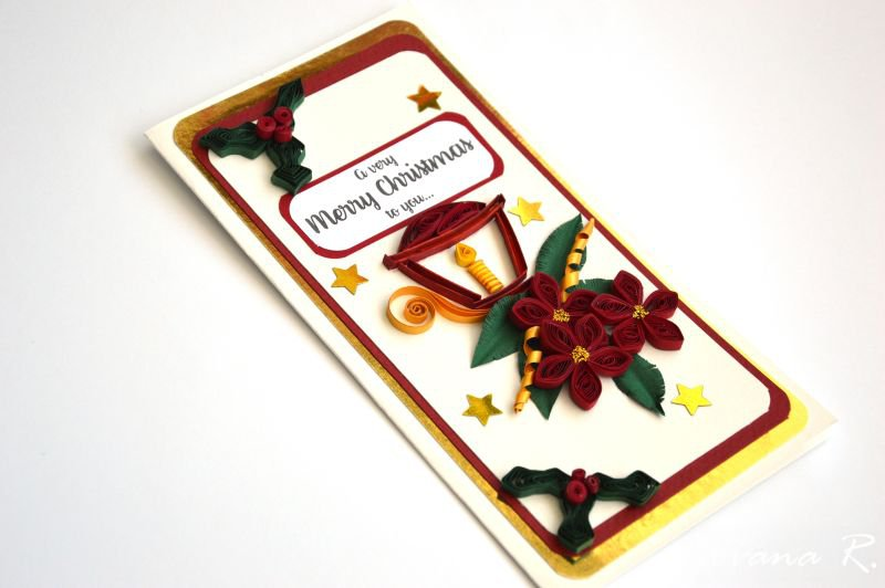Christmas greeting card/ Handmade Chrsitmas card/ Xmas card/ Very Merry Chrsitmas to you