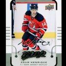 2015-16 MVP Hockey  Silver Script Parallel  #158  Adam Henrique
