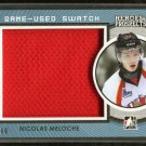 2014-15 ITG Leaf Heroes & Prospects Game Used Swatch Jersey Nicolas Meloche 4/60