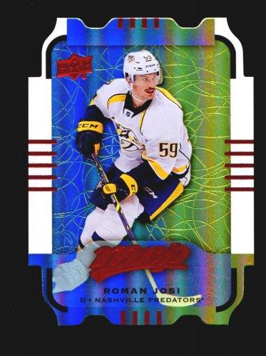 2015-16 MVP Hockey Colours and Contours #92  Roman Josi  Teal Level 3
