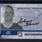 ITG Superlative Vault Sapphire 1/1  Franchise Autograph  #A-JB1  Johnny Bower