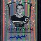 2014-15 ITG Leaf Metal Hockey Autograph  Heroes  #MH-BG1  Bill Gadsby  2/25