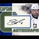 2011-12 ITG Captain C Autograph  GOLD  x/10  Shea Weber  #A-SW