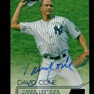 2015 Topps Baseball Stadium Club  Autograph #SCA-DC  David Cone  3/50 White Foil