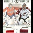2012-13 Panini Limited Hockey Travels Dual Jersey #TD-VAR Semyon Varlamov 43/49