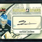 2011-12 ITG Between the Pipes Goaliegraph Autograph #A-NL   Nathan Lieuwen