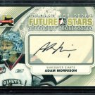 2011-12 ITG Between the Pipes Goaliegraph Autograph #A-AM   Adam Morrison