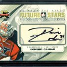 2011-12 ITG Between the Pipes Goaliegraph Autograph #A-DG   Domenic Graham