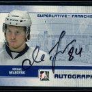 2008-09 ITG Superlative Franchise Toronto  Autograph  Mikhail Grabovski  /40