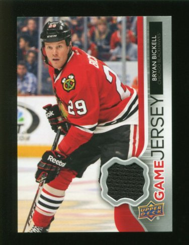 2014-15 Upper Deck Hockey Series 1 Game Jersey  #GJ-BI  Bryan Bickell