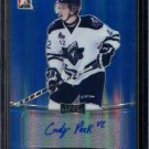 2014-15 ITG Leaf Metal Hockey Autograph  Blue  BA-AP1  Andrew Picco  22/25