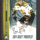 2014 ITG Hockey Draft Prospects AUTOGRAPH  Brandon Robinson  #A-BR1
