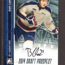 2014 ITG Hockey Draft Prospects AUTOGRAPH  Blake Clarke  #A-BC2