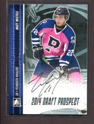 2014 ITG Hockey Draft Prospects AUTOGRAPH  Matt Mistele  #A-MM2