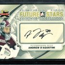 2011-12 ITG Between the Pipes Goaliegraph Autograph #A-AD   Andrew D'Agostini