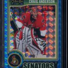 2014-15 OPC O-Pee-Chee Platinum  Blue Cubes  #118  Craig Anderson  27/65