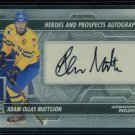 2013-14 ITG Heroes & Prospects AUTOGRAPH  Adam Ollas Mattsson  A-AO  Auto