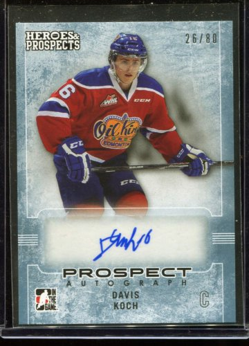 2014-15 ITG Leaf Heroes & Prospects AUTOGRAPH  #22  Davis Koch  26/80