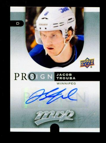 2015-16 Upper Deck MVP Hockey.  Prosign.  Autograph.  #PS-JT.  Jacob Trouba.
