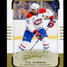 2015-16 Upper Deck MVP Hockey  High Number  SP  #159  P.K. Subban