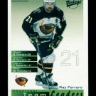 2001-02 UD Hockey Vintage  Team Leaders  #16  Atlanta Thrashers  Ray Ferraro