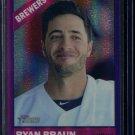 2015 Topps Heritage Baseball  Purple Refractor  #THC-474  Ryan Braun
