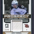 2014 ITG Hockey Draft Prospects Game Used Jersey Eric Cornel PGU-10 13/45