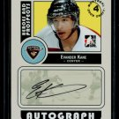 2008-09 ITG Heroes & Prospects Autograph Draft Day Pick  Evander Kane  #A-EK