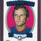 2008-09 ITG 1972 The Year in Hockey Blank Back Jack Norris Edmonton #138 /72