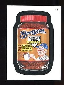 2016 Topps MLB Wacky Packages  #11  Brewers Coffee