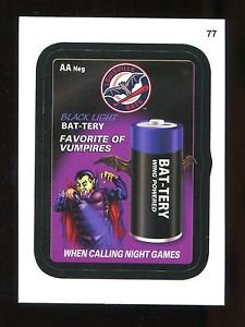 2016 Topps MLB Wacky Packages  #77  Louisville Bats Bat-tery