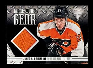 2012-13 Panini Hockey Titanium  Game-Worn Gear #GG-JV  James van Riemsdyk