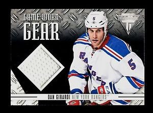 2012-13 Panini Hockey Titanium  Game-Worn Gear #GG-DG  Dan Girardi