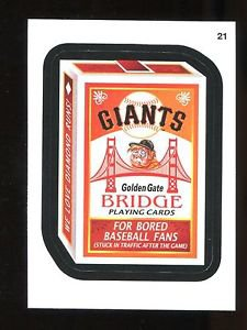 2016 Topps MLB Wacky Packages  #21  Giants Bridge Playing Cards